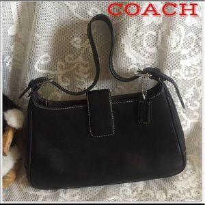 Coach Black Hobo Leather Shoulder Bag D13-7789